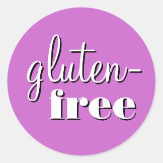 Etiket van de Allergie van het gluten het Vrije