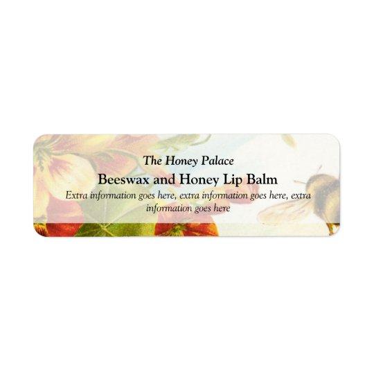Etiket van de Producten van de honing het Floral B Retouretiket