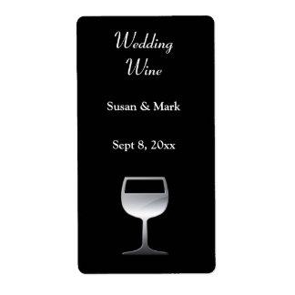 Etiket van de Wijn van het huwelijk het Zilveren