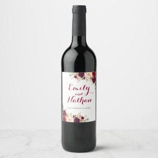 Etiket van de Wijn van het Huwelijk van de Herfst