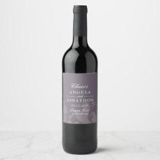Etiket van de Wijn van het Huwelijk van de Pruim