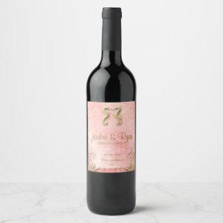 Etiket van de Wijn van het Koraal van Seahorse van