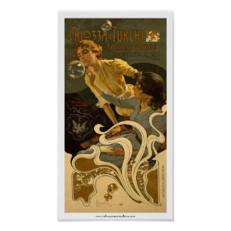 Etiket van de Zeep van Chiozza e Turchi het Italia Poster