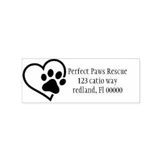 etiket van het Adres van de hartPoot 2 Rubberenstempel