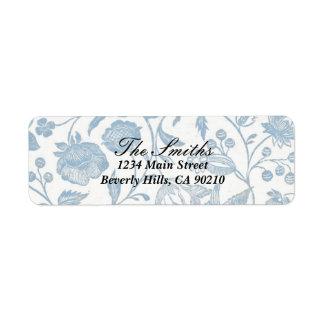 Etiket van het Adres van Delft Blauw 2 Retouretiket