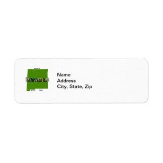 Etiket van het Adres van New Mexico, de V.S. het Retouretiket