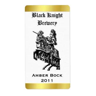 Etiket van het Bier van de ridder het naar huis Ge