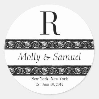 Etiket van het Huwelijk van de Datum van de Namen