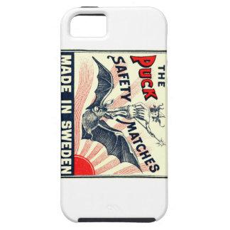 Etiket van het Lucifersdoosje van de Knuppel van Tough iPhone 5 Hoesje