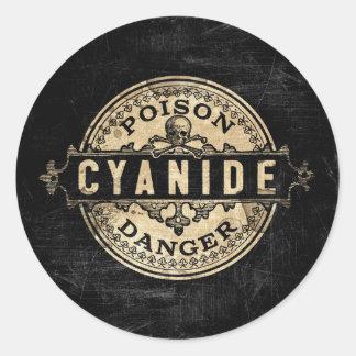 Etiket van het Vergift van de Stijl van het Ronde Stickers
