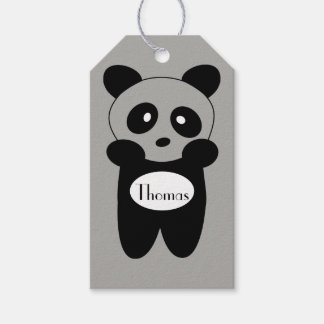 Etiketten-cadeau Baby Panda Cadeaulabel