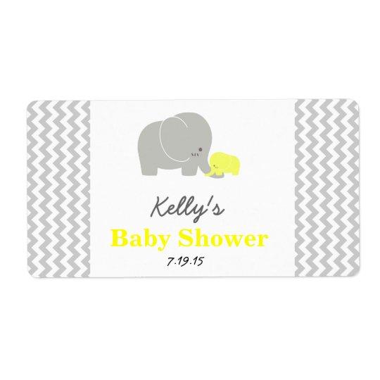 Etiketten van de Gunst van de olifant de Baby Verzendlabel