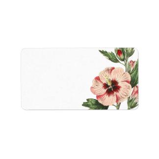 Etiketten van de Post van de vintage Hibiscus de