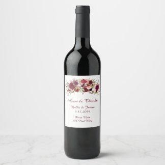 Etiketten van de Wijn van het Huwelijk Boho van de