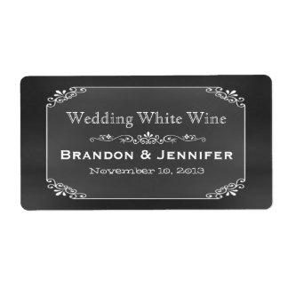Etiketten van de Wijn van het Huwelijk van de