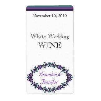 Etiketten van de Wijn van het Huwelijk van de Verzendlabel