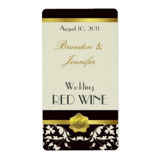 Etiketten van de Wijn van het Huwelijk van het Mon