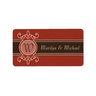 Etiketten van het Huwelijk van de Oogst van de