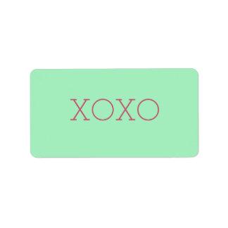 Etiketten XOXO