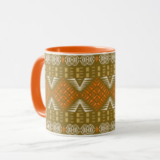 etnisch Afrikaans stammen geometrisch patroon Mok