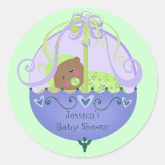 Etnisch baby shower de Nieuwe Stickers van het Bab