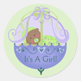 Etnisch baby shower/de Nieuwe Stijl van de Ronde Stickers