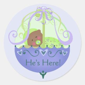 Etnisch baby shower de Nieuwe Stijl van de Sticker