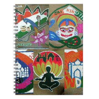 Etnisch Indisch ontwerp Notitieboek