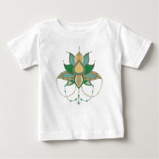 Etnisch mandalaornament van de bloemlotusbloem baby t shirts