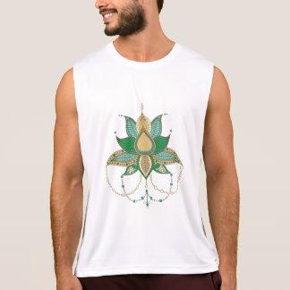 Etnisch mandalaornament van de bloemlotusbloem hemd