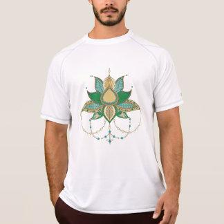 Etnisch mandalaornament van de bloemlotusbloem t shirt
