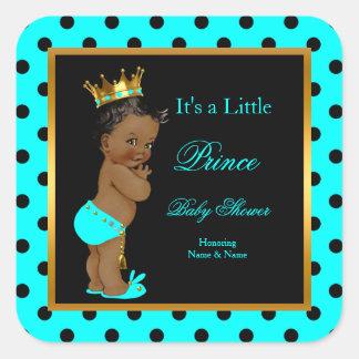 Etnisch van de Jongen van het Baby shower van de Vierkante Sticker