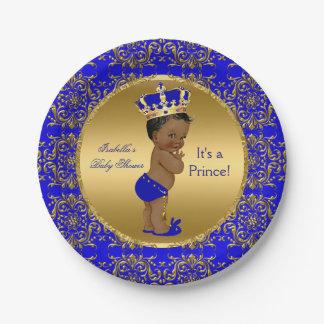 Etnische het Baby shower van de Kroon van de Prins Papieren Bordje
