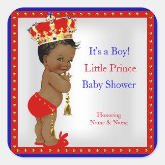Etnische Jongen van het Baby shower van de prins Vierkante Stickers