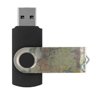 Etnografische kaart van Europa USB Stick