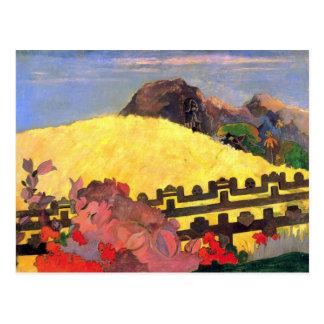 Eugène Henri Paul Gauguin - Er is de Tempel Briefkaart
