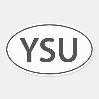 Euro-Overdrukplaatje YSU Ovale Sticker