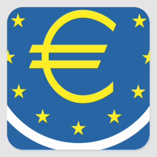 Euro symboliek - Europese Erfenis Vierkante Sticker