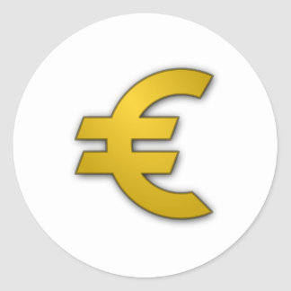 Euro Teken Ronde Sticker