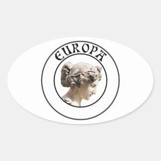 Europa: Ben Trots om uw Euro Wortels te tonen! Ovale Sticker