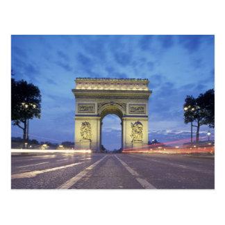 Europa, Frankrijk, Parijs. Arc DE Triomphe zoals Briefkaart