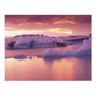 Europa, IJsland, lagune Jokulsarlon Briefkaart