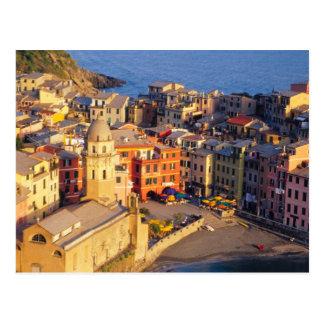 Europa, Italië, Cinque Terre. Dorp van Vernazza Briefkaart
