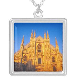 Europa, Italië, Milaan, Kathedraal van Milaan Zilver Vergulden Ketting