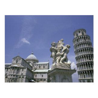 Europa, Italië, Pisa, Leunende Toren van Pisa Briefkaart