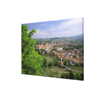Europa, Italië, Toscanië, Certaldo. Middeleeuwse h Canvas Afdrukken