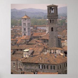 Europa, Italië, Toscanië, Luca, het panorama van d Poster