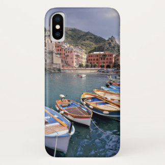 Europa, Italië, Vernazza. Helder geschilderde iPhone X Hoesje