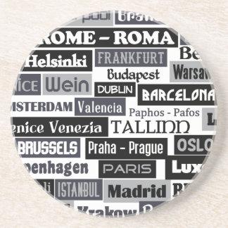 Europees de douaneonderzetter van de Reiziger Zandsteen Onderzetter