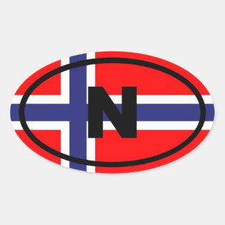 Europees Noorwegen N Ovale Sticker